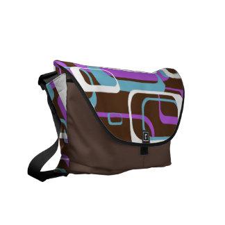 Retro Shapes Pattern Courier Bag