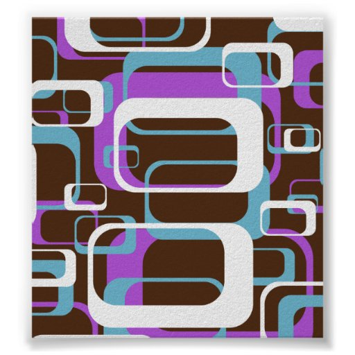 Retro Shapes Pattern Poster