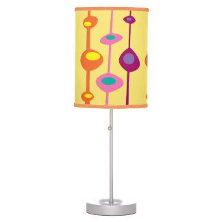 Retro shapes with a 60s vibe table lamp
