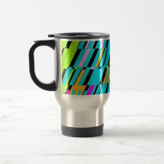 Retro Shatter Square Multicolor Travel Mug