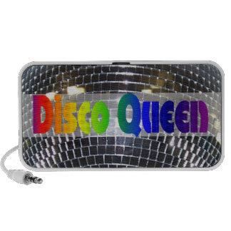 Retro Shiny Silver Disco Queen Disco Ball Travel Speakers