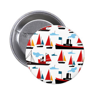 Retro Ships and Boats Button