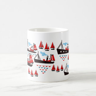 Retro Ships and Boats Mug