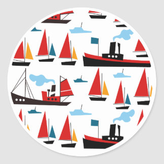 Retro Ships and Boats Stickers