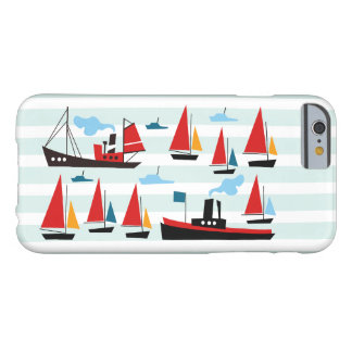 Retro Ships and Boats Striped iPhone 6 Case