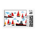 Retro Ships & Boats Postage Stamps