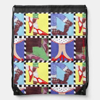 Retro Shoes Backpack! Drawstring Bag
