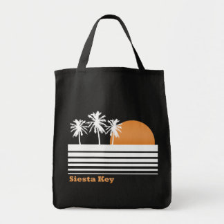 Retro Siesta Key Canvas Bag (Dark)