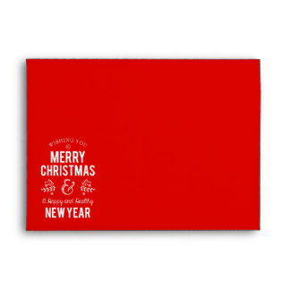 Retro Sign in Rustic Wood Merry Christmas Envelope