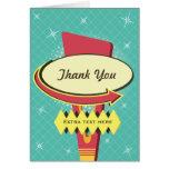 Retro Sign Thank You Card
