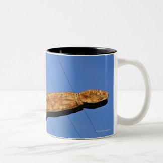 Retro sign Two-Tone coffee mug