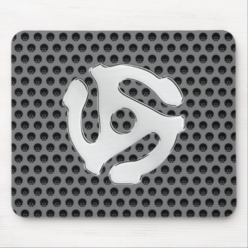 Retro Silver Chrome Like 45 spacer Mouse Pad
