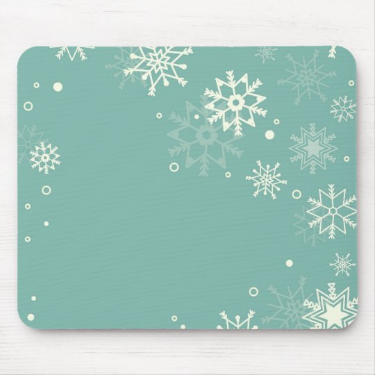 Retro simple Christmas card with snowflakes Mouse Pad