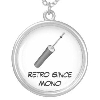 Retro Since Mono Round Pendant Necklace
