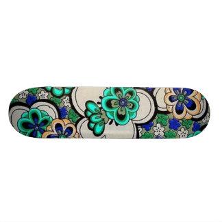 Retro Sissy Flower Power Girly Skateboard