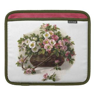 Retro Sissy Vintage Floral Wild Roses Flowers iPad Sleeve