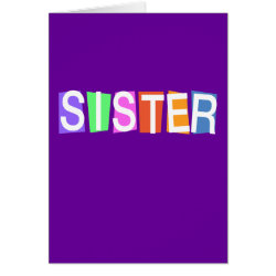 Greeting Card with Retro Sister design
