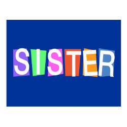 Postcard with Retro Sister design