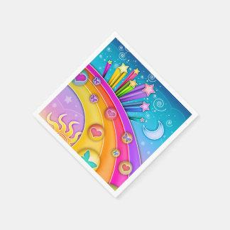 RETRO SIXTIES POP ART SKY PAPER NAPKIN