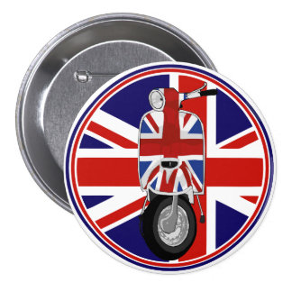 Retro Sixties Scooter with UJ decal Pinback Button