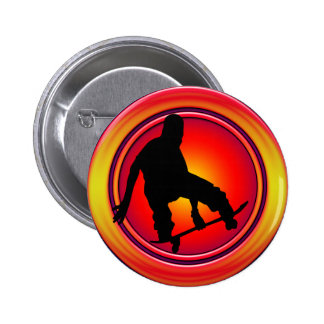 RETRO SKATEBOARDER PINBACK BUTTONS