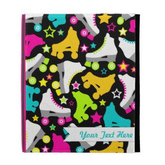 Retro Skates (Black) iPad Folio Covers