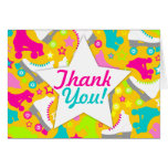 "Retro Skates ""Thank You"" Greeting Card"