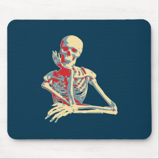 retro skeleton mouse pad