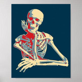Retro Skeleton Print