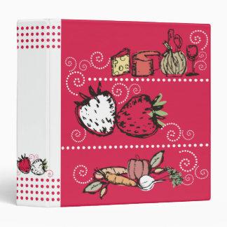 retro sketch food all purpose recipe cookbook bind 3 ring binder
