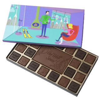 Retro Ski Vacation Box of Chocolates