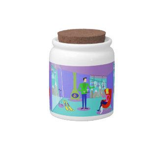 Retro Ski Vacation Candy Jar