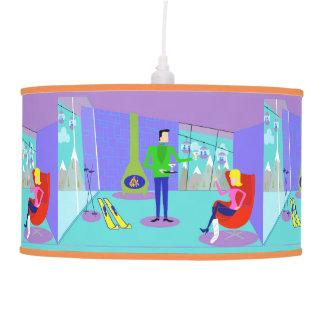 Retro Ski Vacation Pendant Lamp