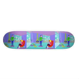 Retro Ski Vacation Skateboard
