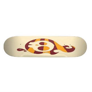 Retro Skull - Cream Skate Board Deck