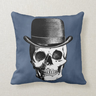 Retro Skull Head Throw Pillow
