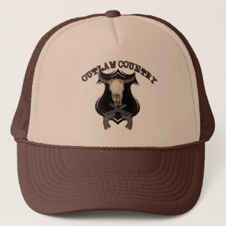Retro Skull Revolver Guns Western Outlaw Country Trucker Hat