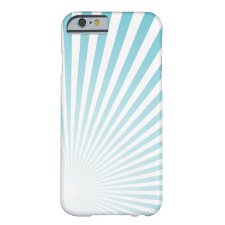 Retro Sky blue Sun Rays Background Barely There iPhone 6 Case