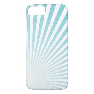 Retro Sky blue Sun Rays Background iPhone 8/7 Case