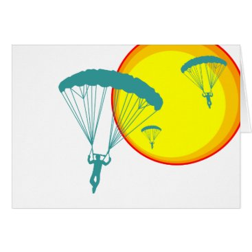 Beach Themed retro sky divers card