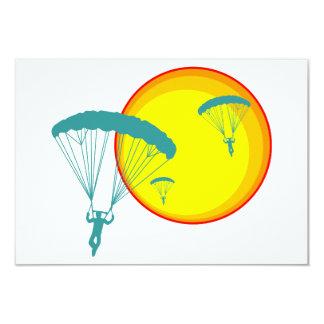 retro skydivers 3.5x5 paper invitation card