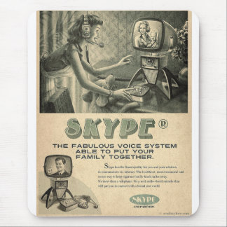 Retro Skype Social Media Ad by Send My Love Mouse Pad