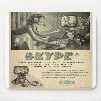 Retro Skype Social Media Ad by Send My Love Mouse Pads