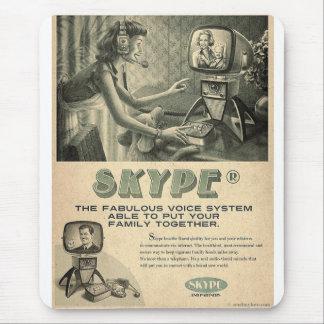 Retro Skype Social Media Ad by Send My Love Mouse Pad