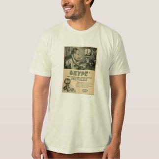 Retro Skype Social Media Ad by Send My Love T-Shirt