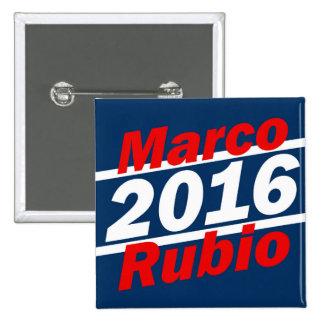 Retro Slant Marco Rubio 2016 Campaign Pinback Button