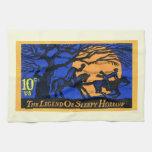 Retro Sleepy Hollow Stamp Towel