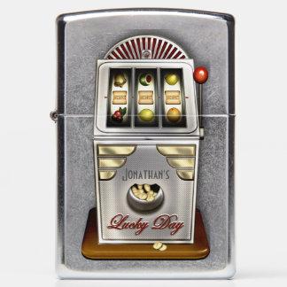 Retro Slot Machine Lucky Jackpot Zippo Lighter