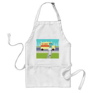 Retro Small Town Milkman Apron Standard Apron