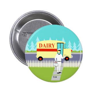 Retro Small Town Milkman Button
